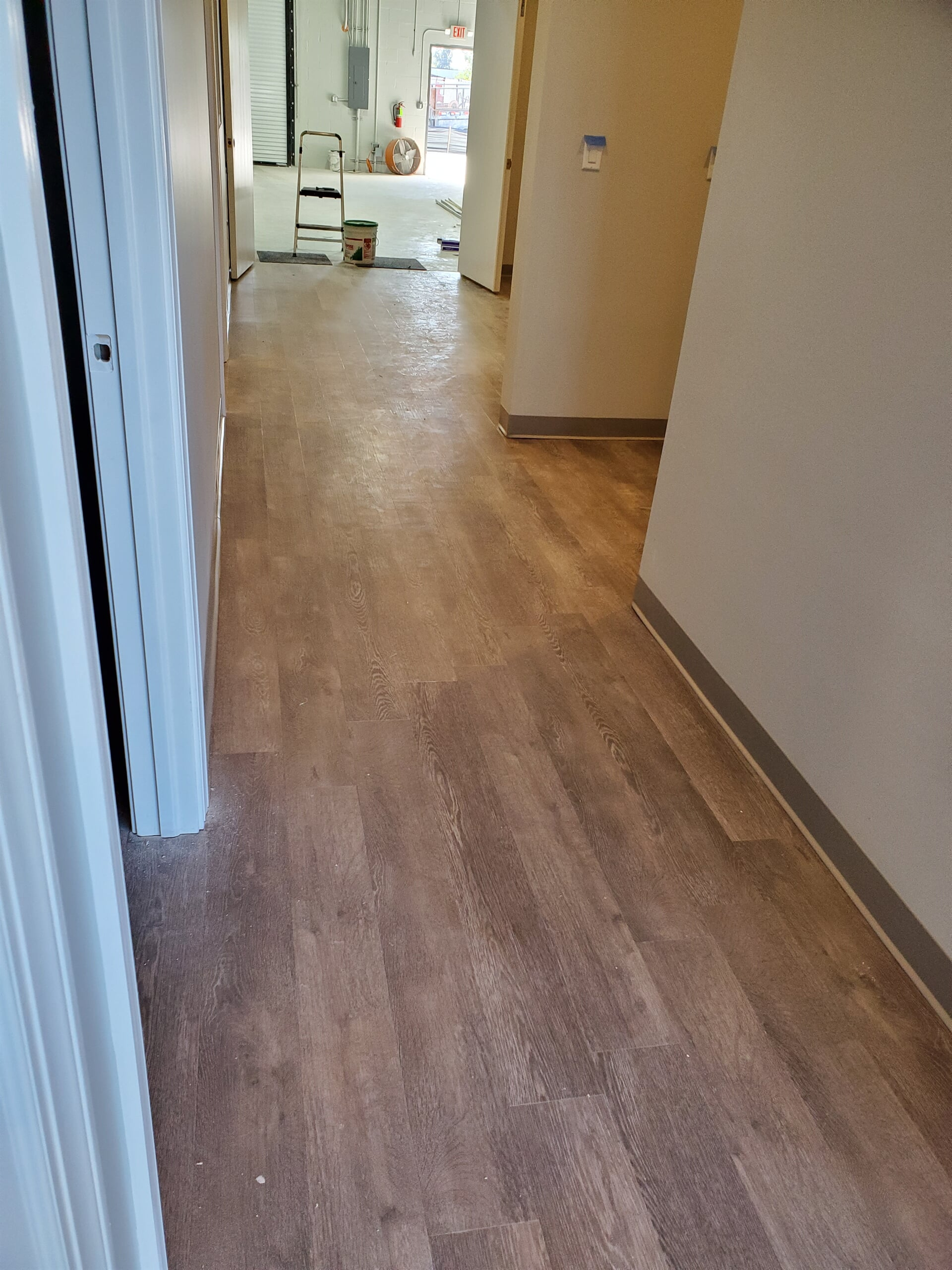 Commercial glue down armstrong driftwood lvt in stuart