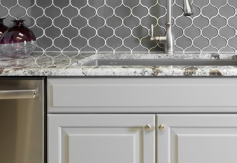 Black and white countertops in Highland, CA from Simple Touch Interior Solutions