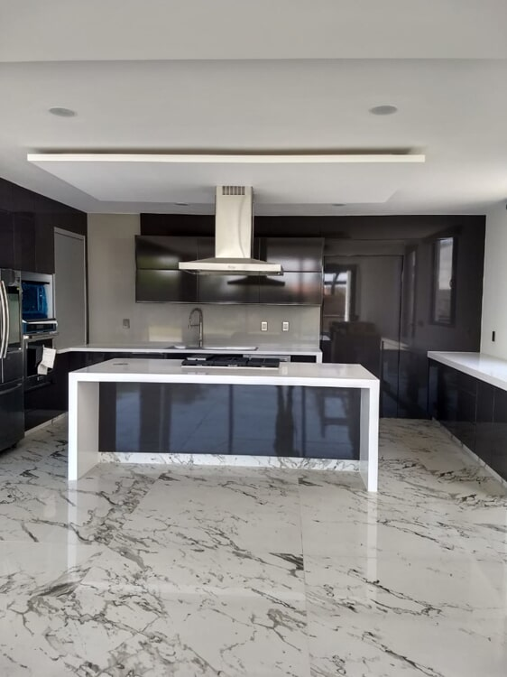 Waterfall countertops in Loma Linda, CA from Simple Touch Interior Solutions