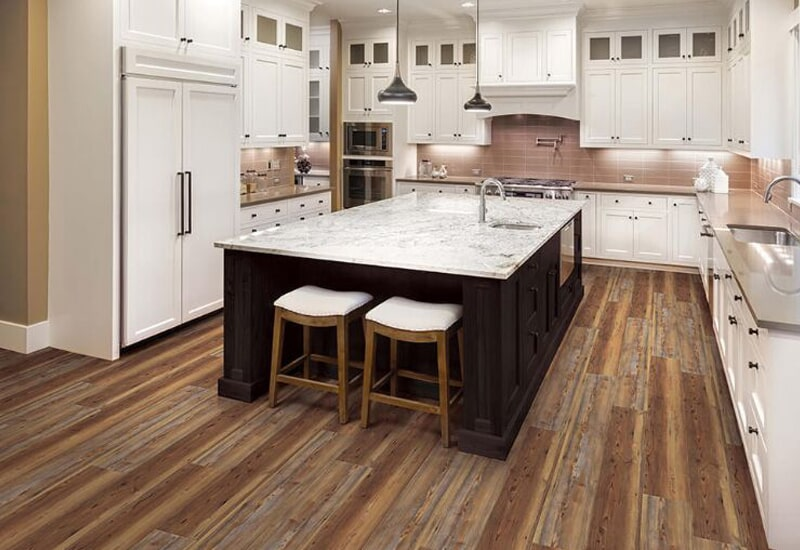 Wood look kitchen flooring in Redlands, CA from Simple Touch Interior Solutions