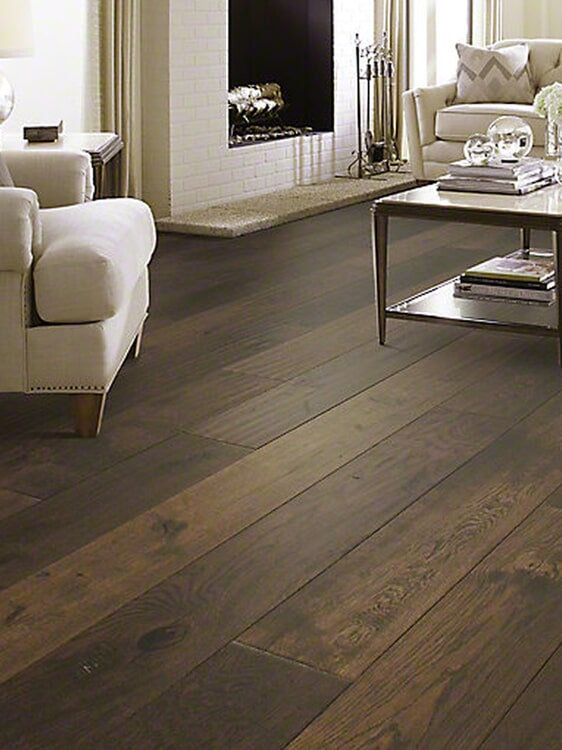 Dark wood floors in Highland, CA from Simple Touch Interior Solutions
