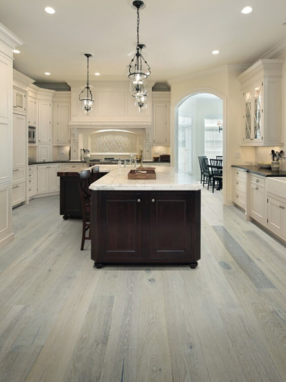 Gray wood look flooring in Yucaipa, CA from Simple Touch Interior Solutions