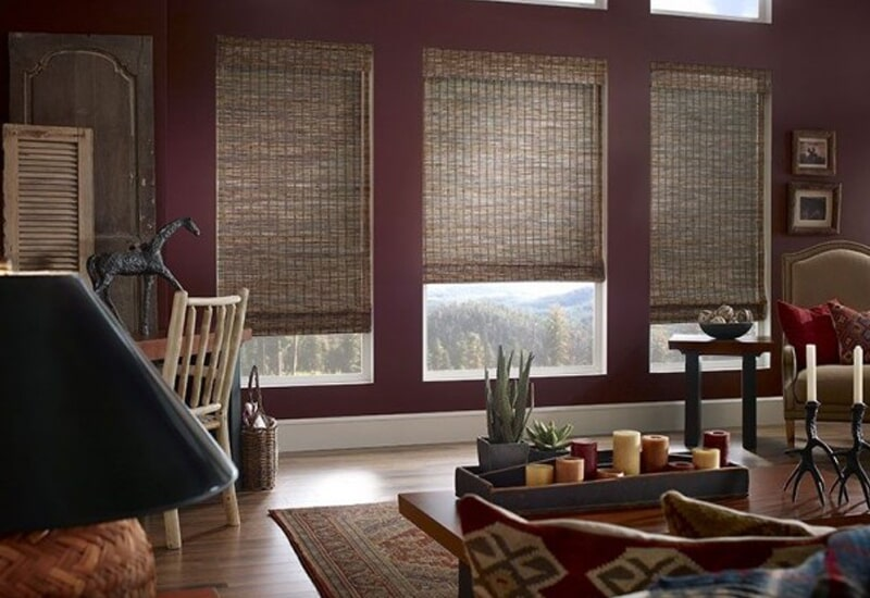 Natural tone window shades in Redlands, CA from Simple Touch Interior Solutions