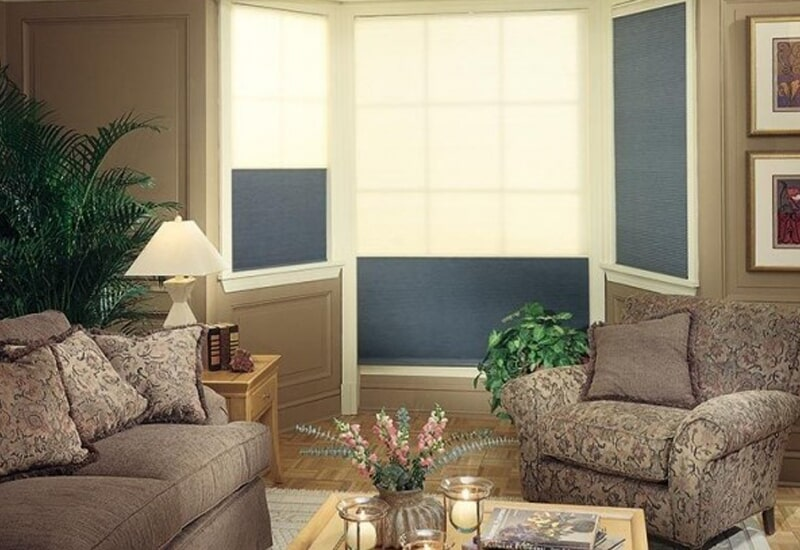 Blue window shades in San Bernardino, CA from Simple Touch Interior Solutions