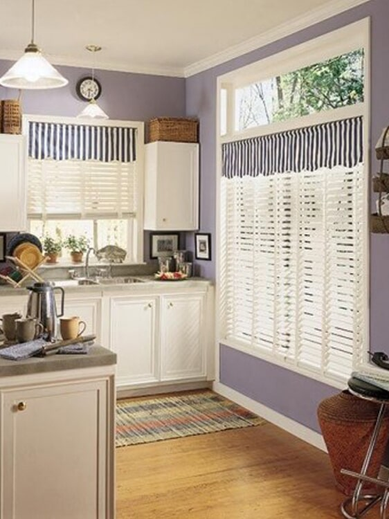 Kitchen window treatments in San Bernardino, CA from Simple Touch Interior Solutions