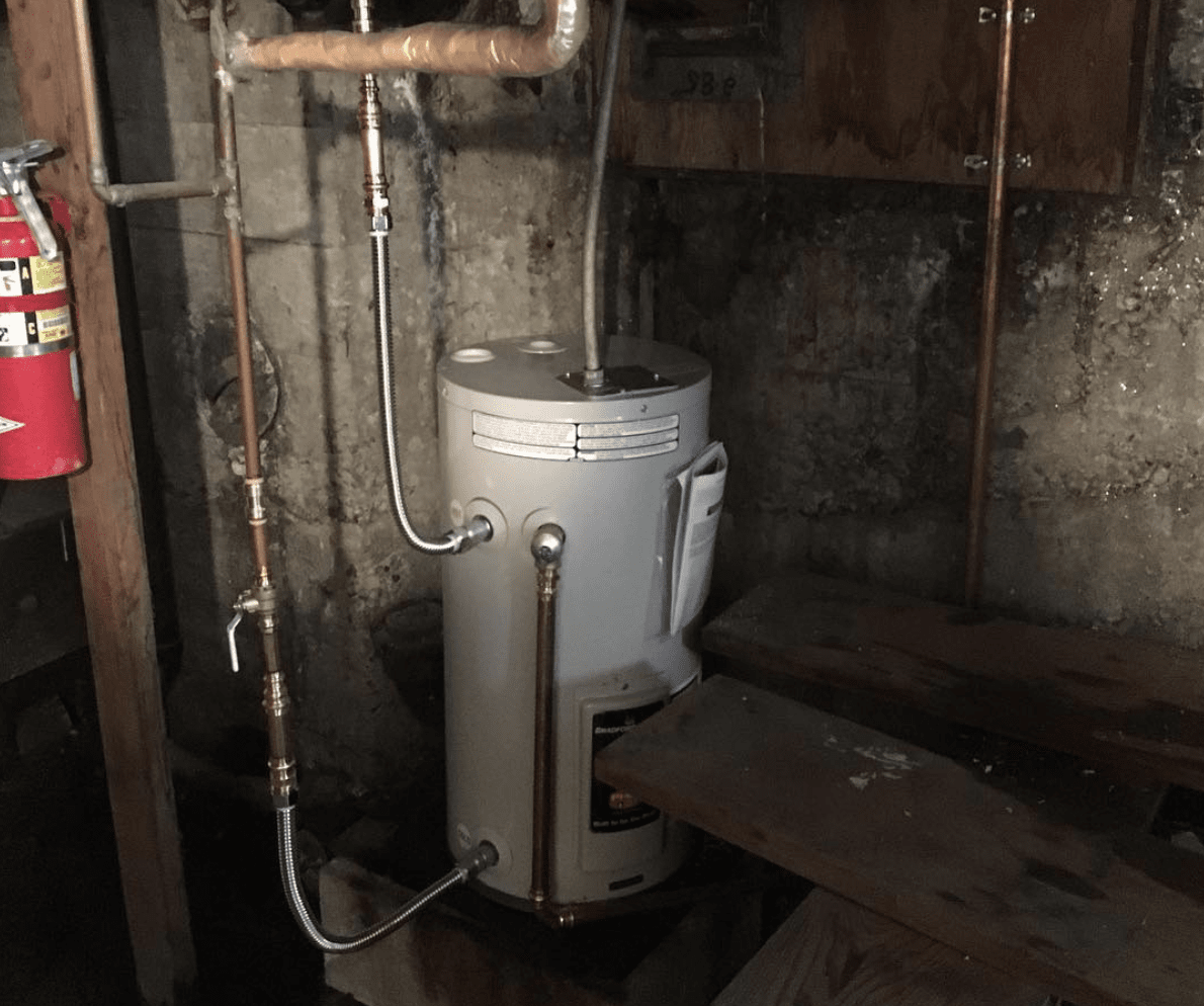 Hot Water Heater Tank Install