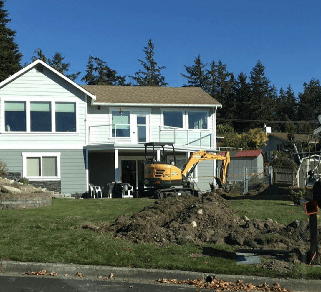 excavation work outside the house