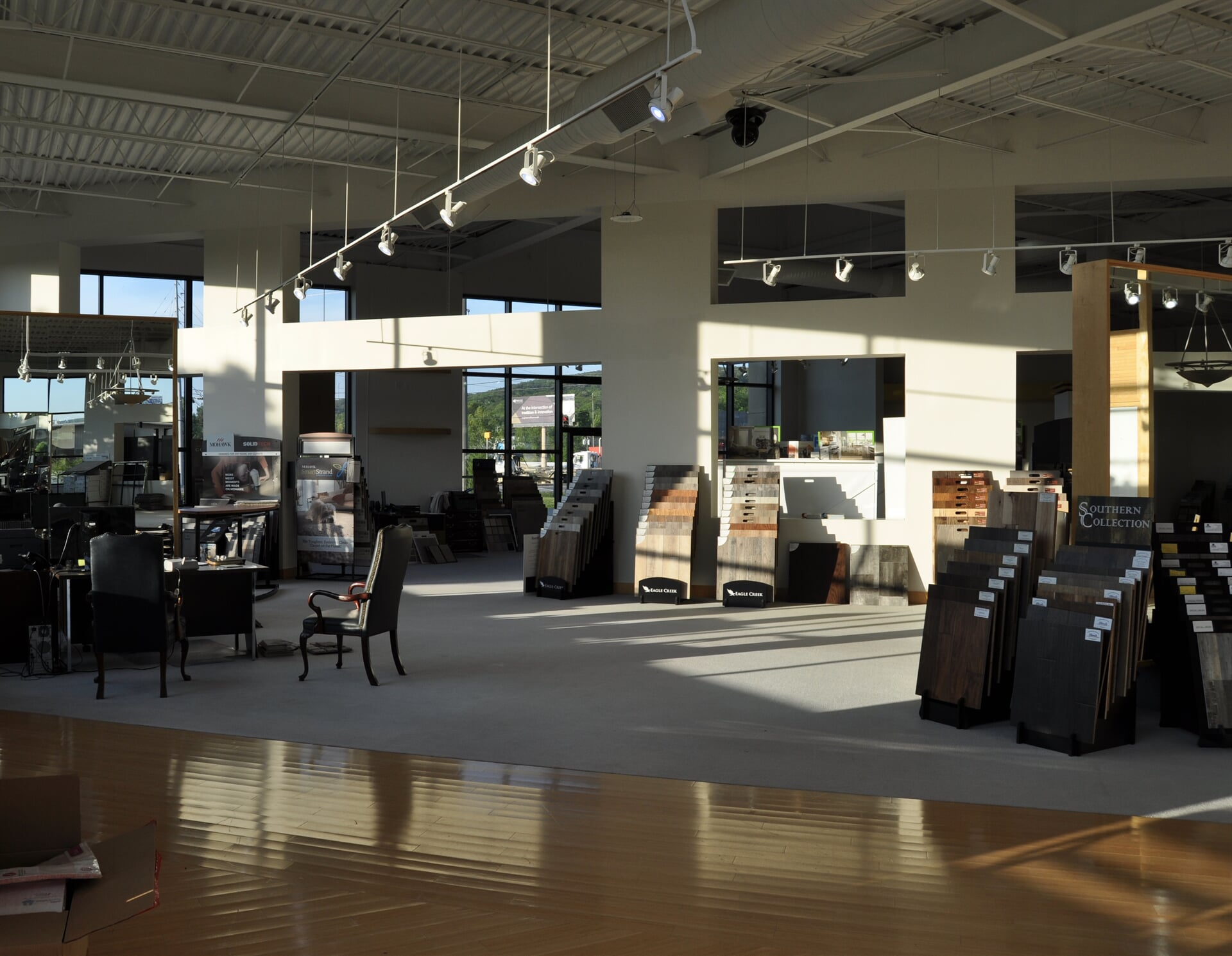Our flooring options even cover our own floors at Beckler's Flooring Center
