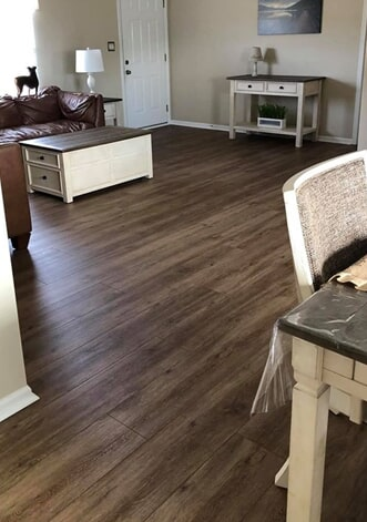 Beautiful dining room flooring in Lucama, NC from Richie Ballance Flooring & Tile