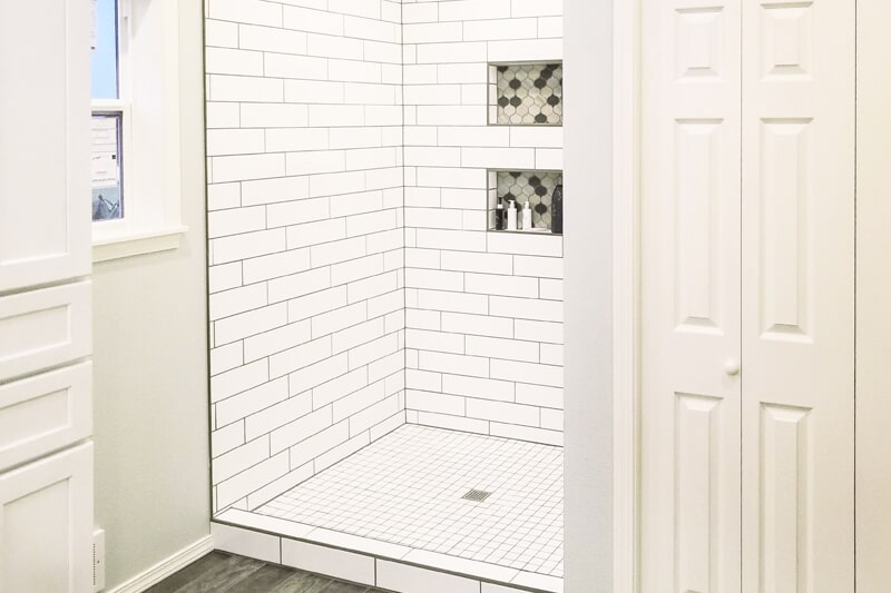 Bathroom tile from Strait Floors in