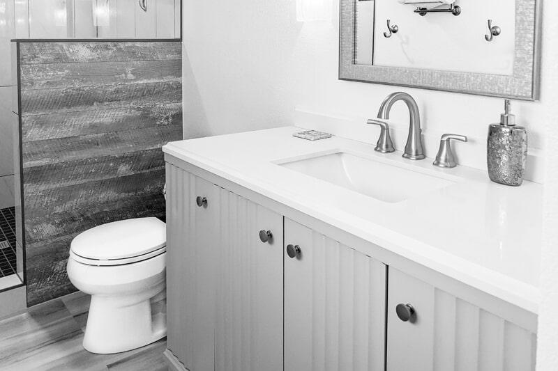 Bathroom countertop from Strait Floors in