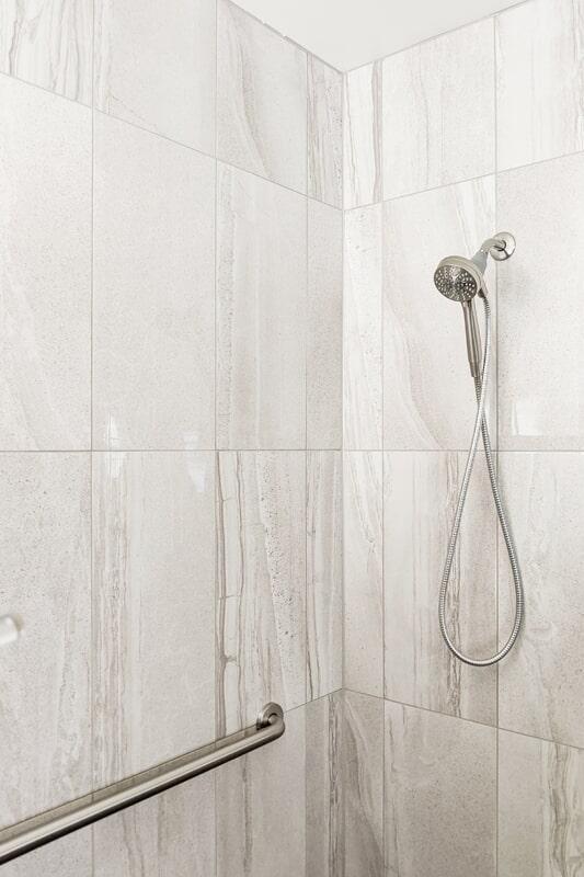 Custom shower from Strait Floors in