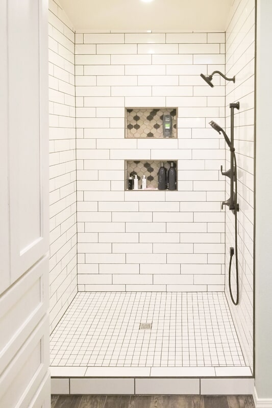 Custom shower from Strait Floors in