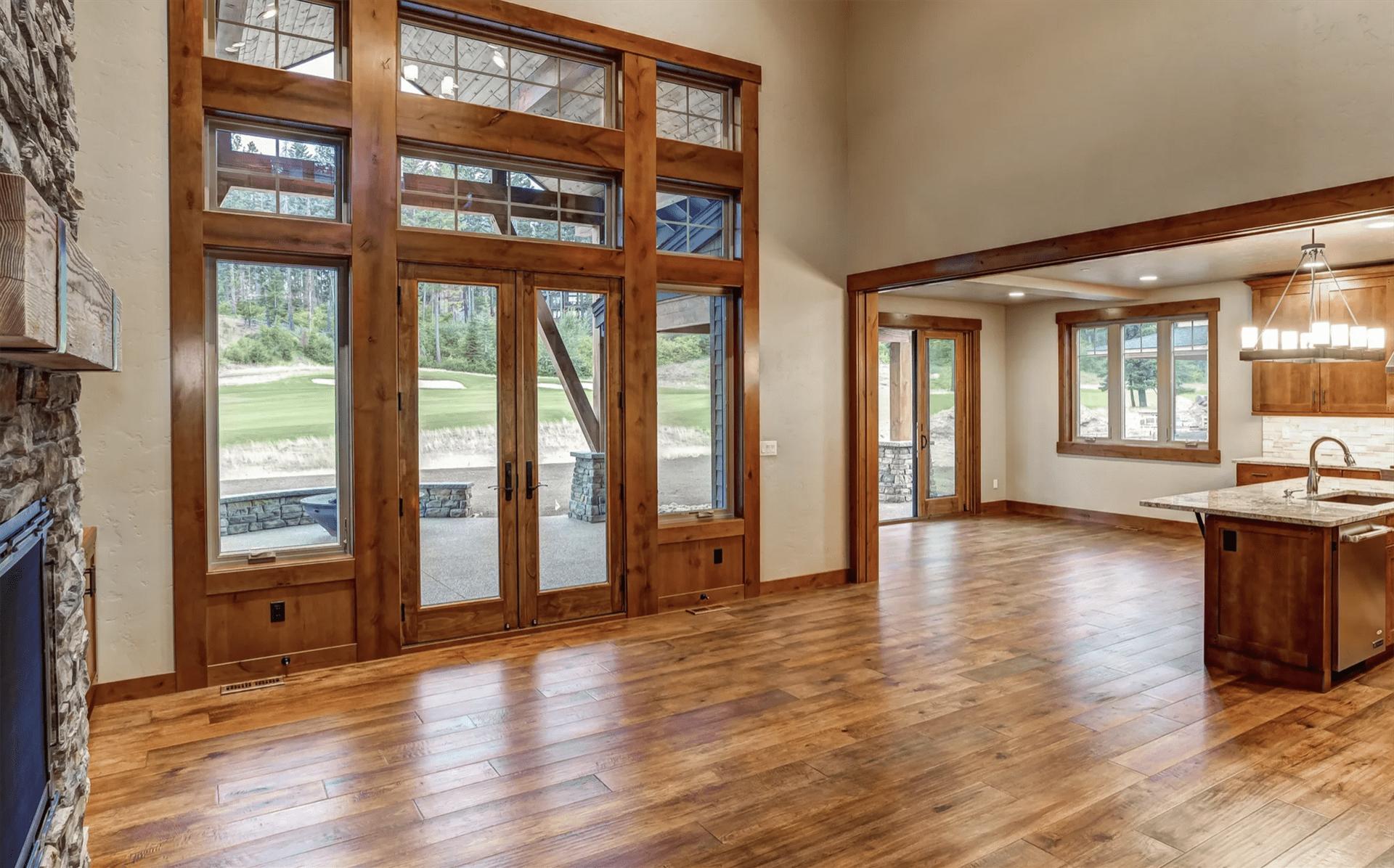 Hardwood flooring from HomePort Interiors in Mount Vernon, WA