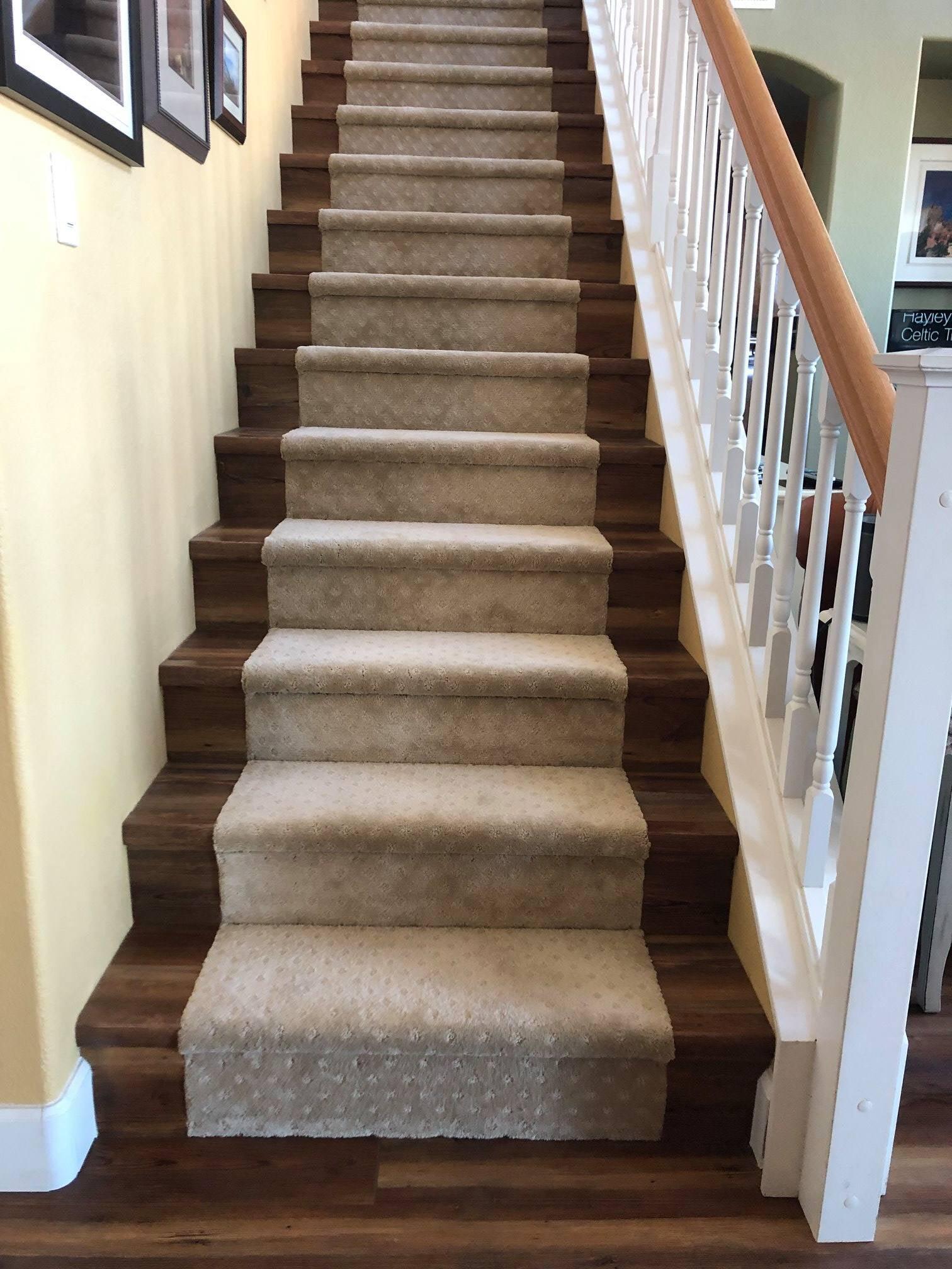 Carpet stair runner from Carpet King Interiors in Fernley, NV