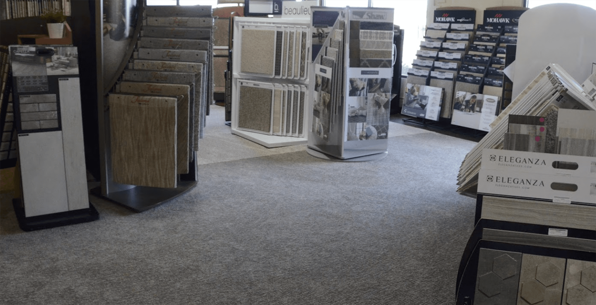 Superb Carpets, Inc. showroom in St. Charles, IL