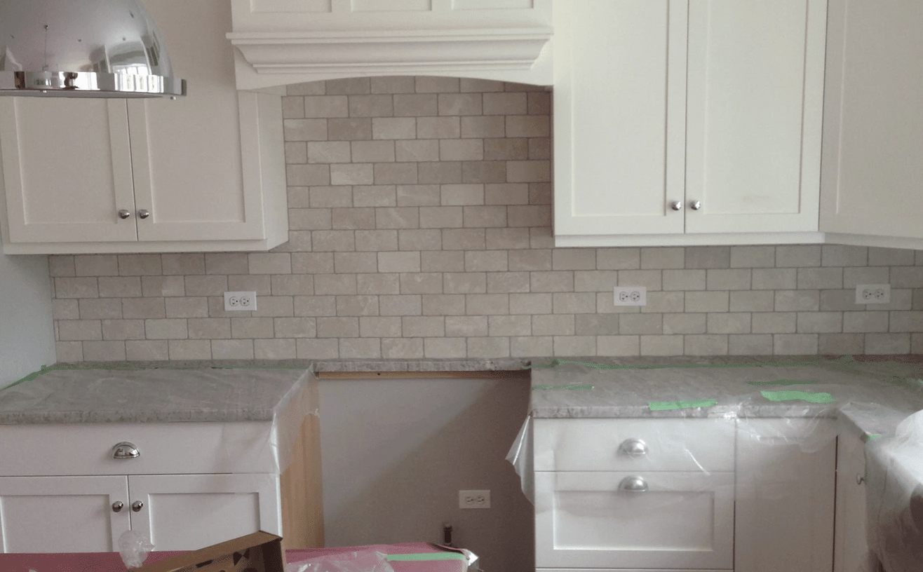 Tile backsplash from Superb Carpets, Inc. in Carol Stream, IL