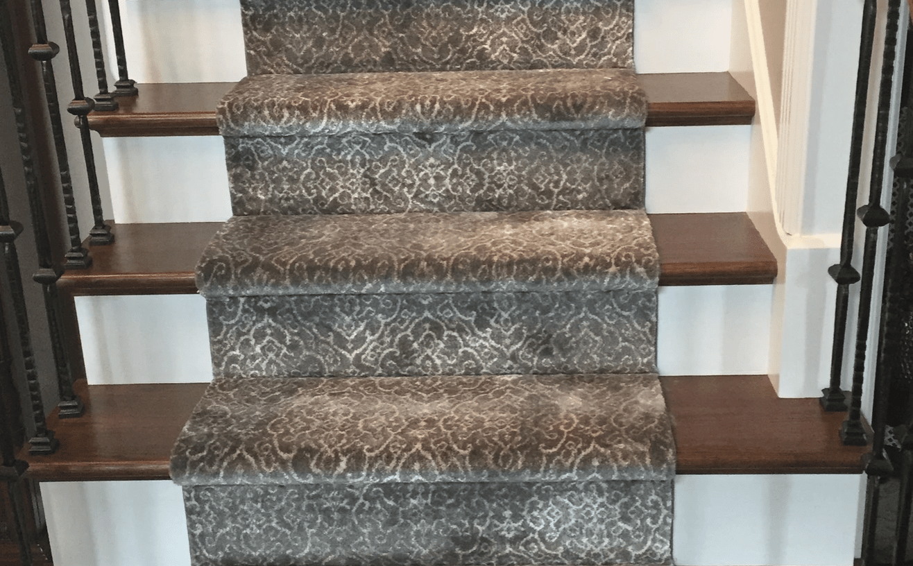Carpet stair runner from Superb Carpets, Inc. in Wheaton, IL