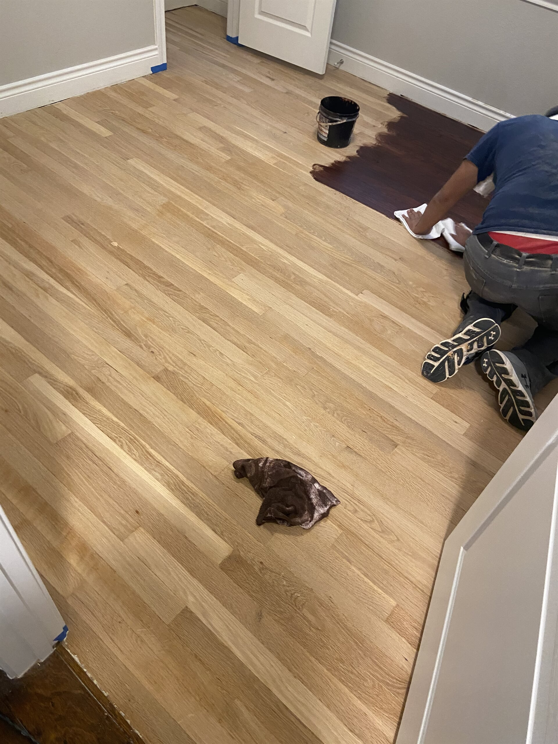 Hardwood refinishing from Houston Floor Installation Services in Humble, TX
