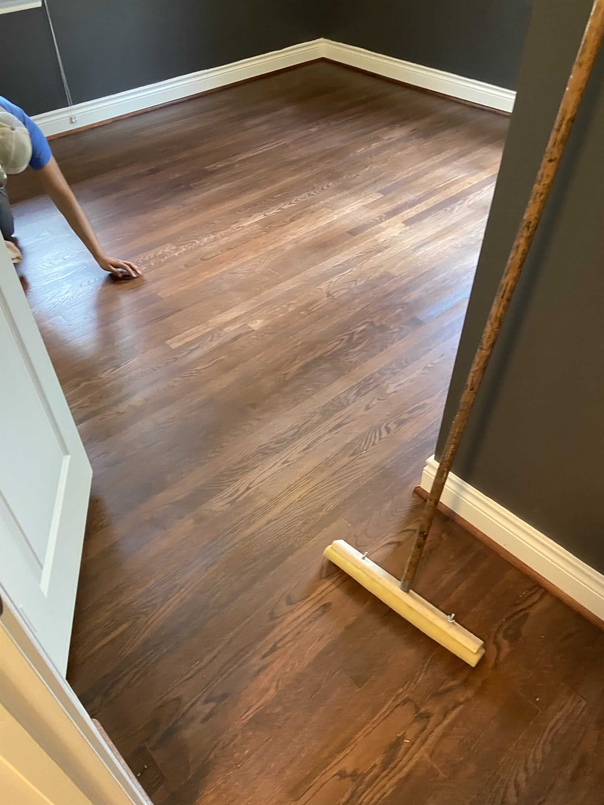 Hardwood refinishing from Houston Floor Installation Services in Conroe, TX