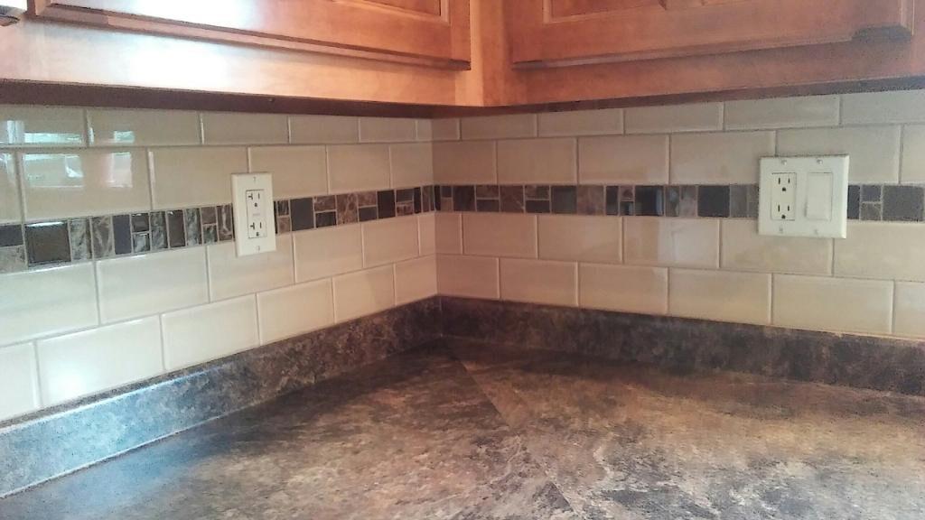tiny- tile backsplash