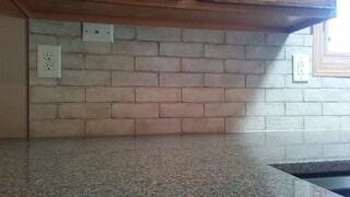 Tiny- subway tile backsplash 2
