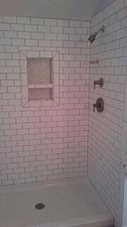 Tiny- tile shower