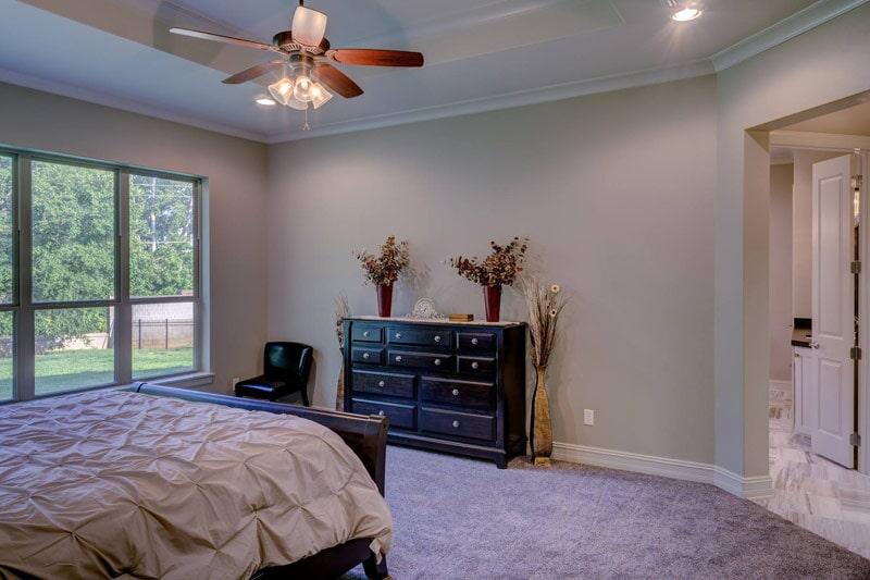 Master bedroom carpet installation in Lake Oswego, OR from Marion's Carpet & Flooring Warehouses