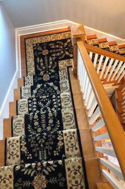 Beautiful carpet runner in Portland, OR from Marion's Carpet & Flooring Warehouses