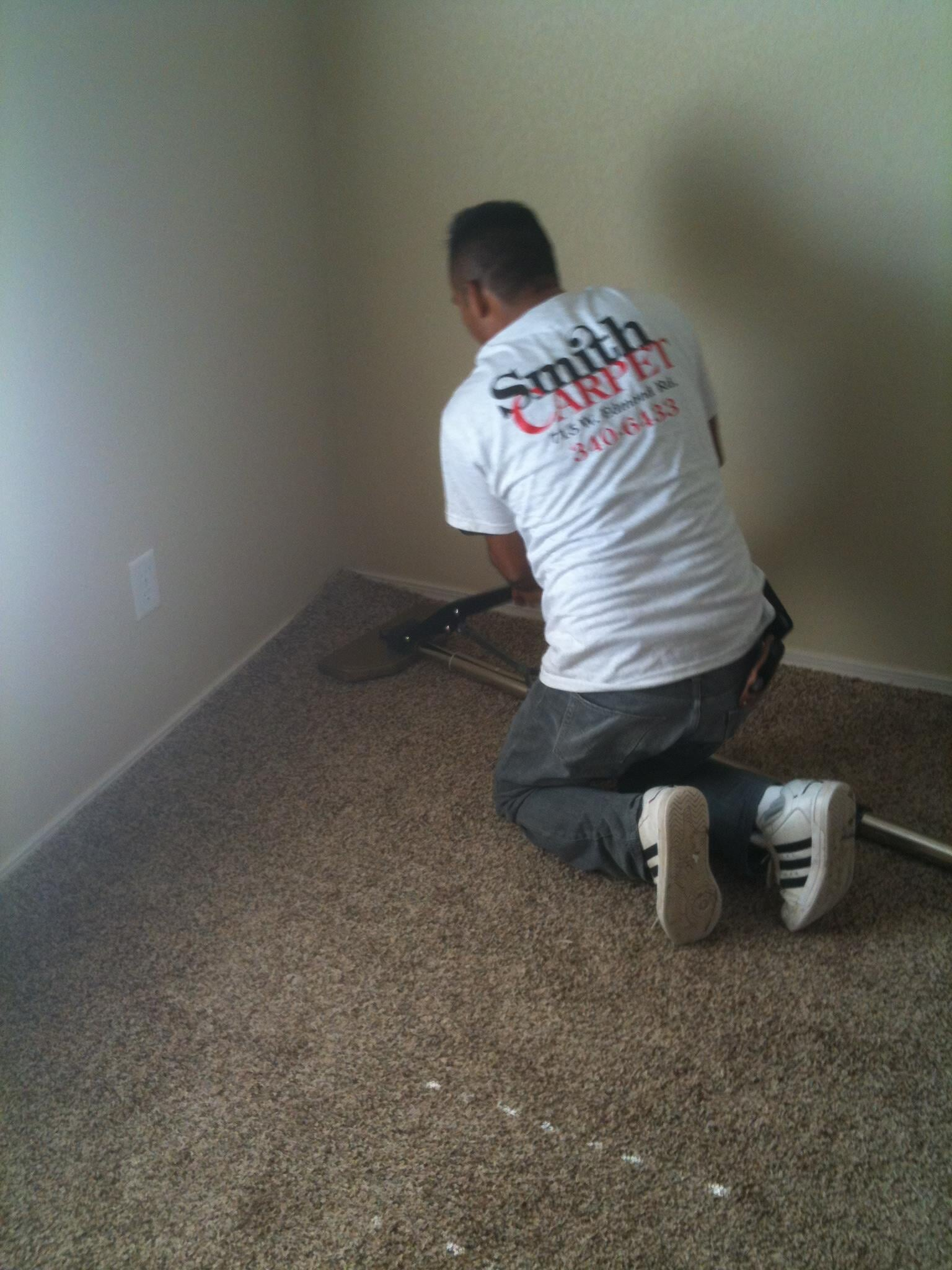 Carpet installation from Smith Carpet & Tile Center in Edmond, OK