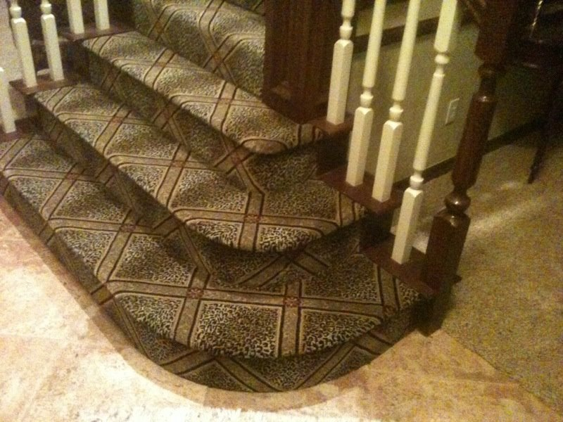 Carpet stair runner from Smith Carpet & Tile Center in Guthrie, OK