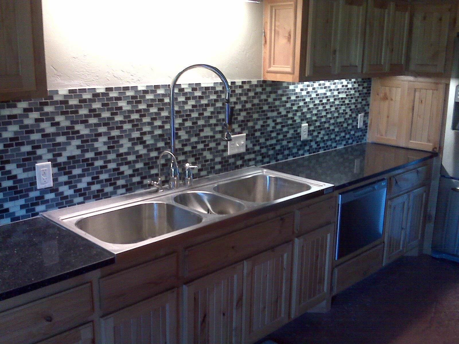 Tile backsplash from Smith Carpet & Tile Center in Edmond, OK