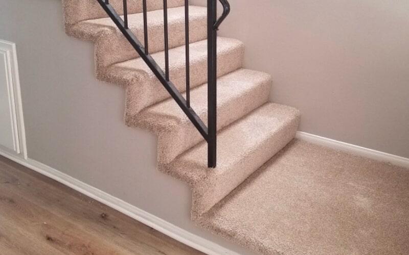 Stair carpet remodel in Santa Fe Springs, CA from Triple A Flooring Inc