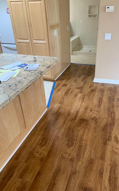 Modern flooring remodel in Downey, CA from Triple A Flooring Inc