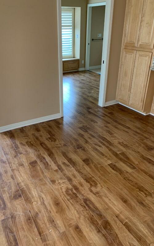 Wood look flooring remodel in Downey, CA from Triple A Flooring Inc