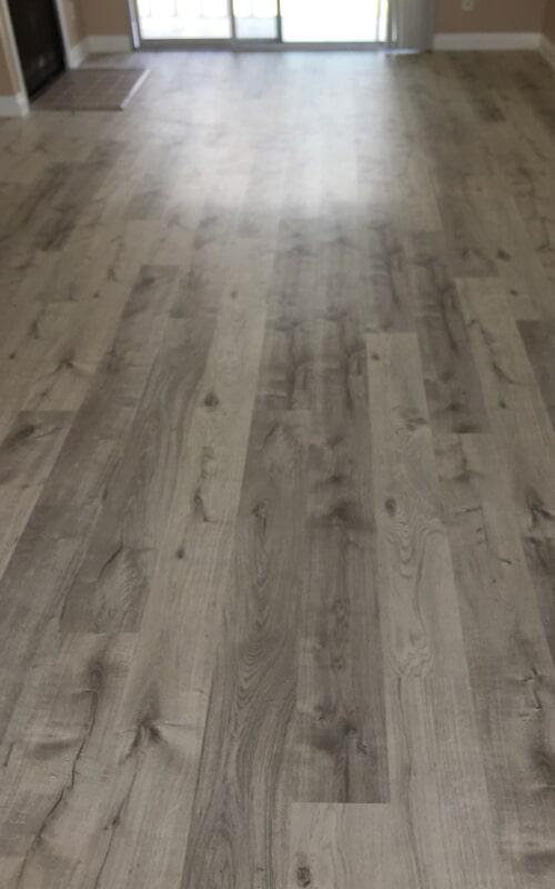Hallway flooring remodel in Santa Fe Springs, CA from Triple A Flooring Inc