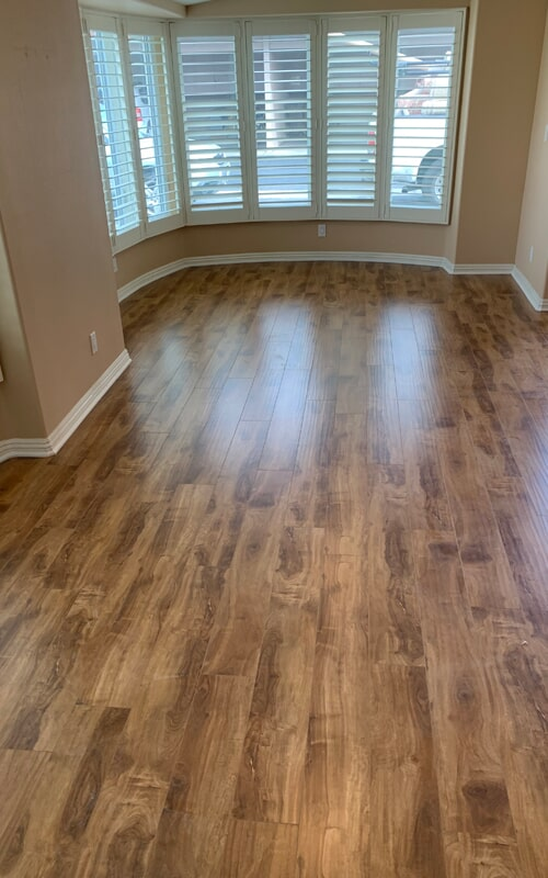 Living area flooring remodel in Downey, CA from Triple A Flooring Inc