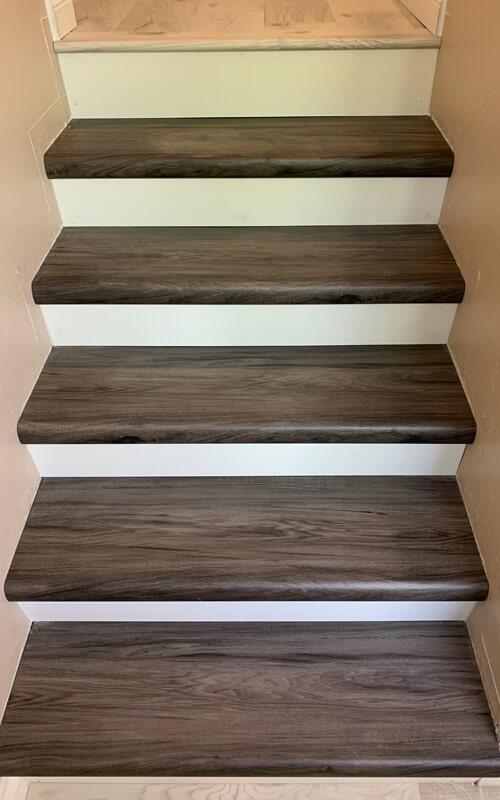 Wood stair remodel in Santa Fe Springs, CA from Triple A Flooring Inc