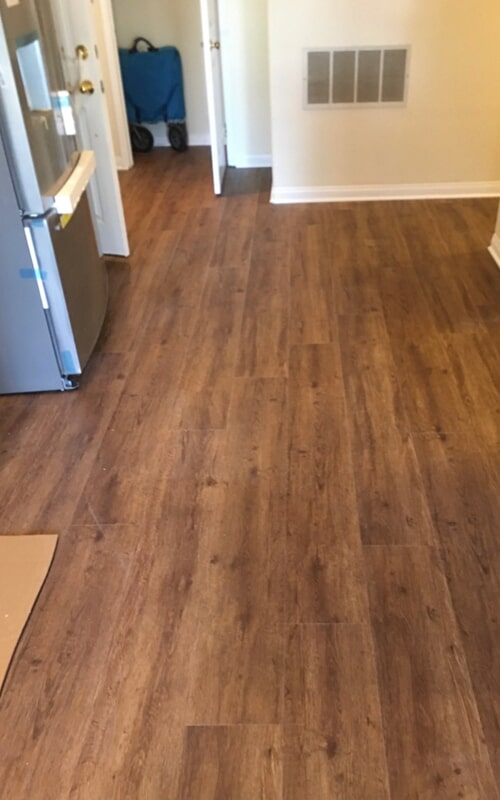 Modern kitchen flooring in Downey, CA from Triple A Flooring Inc