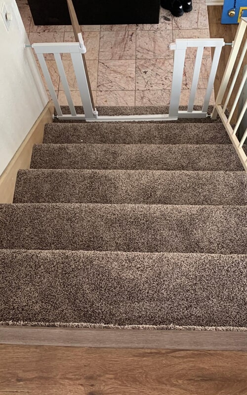 Soft carpet stairway in Whittier, CA from Triple A Flooring Inc