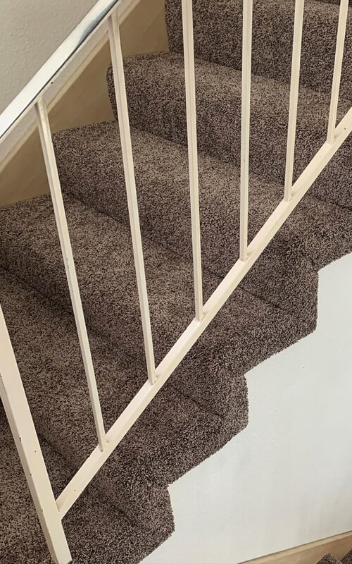 Stair carpet installation in Whittier, CA from Triple A Flooring Inc
