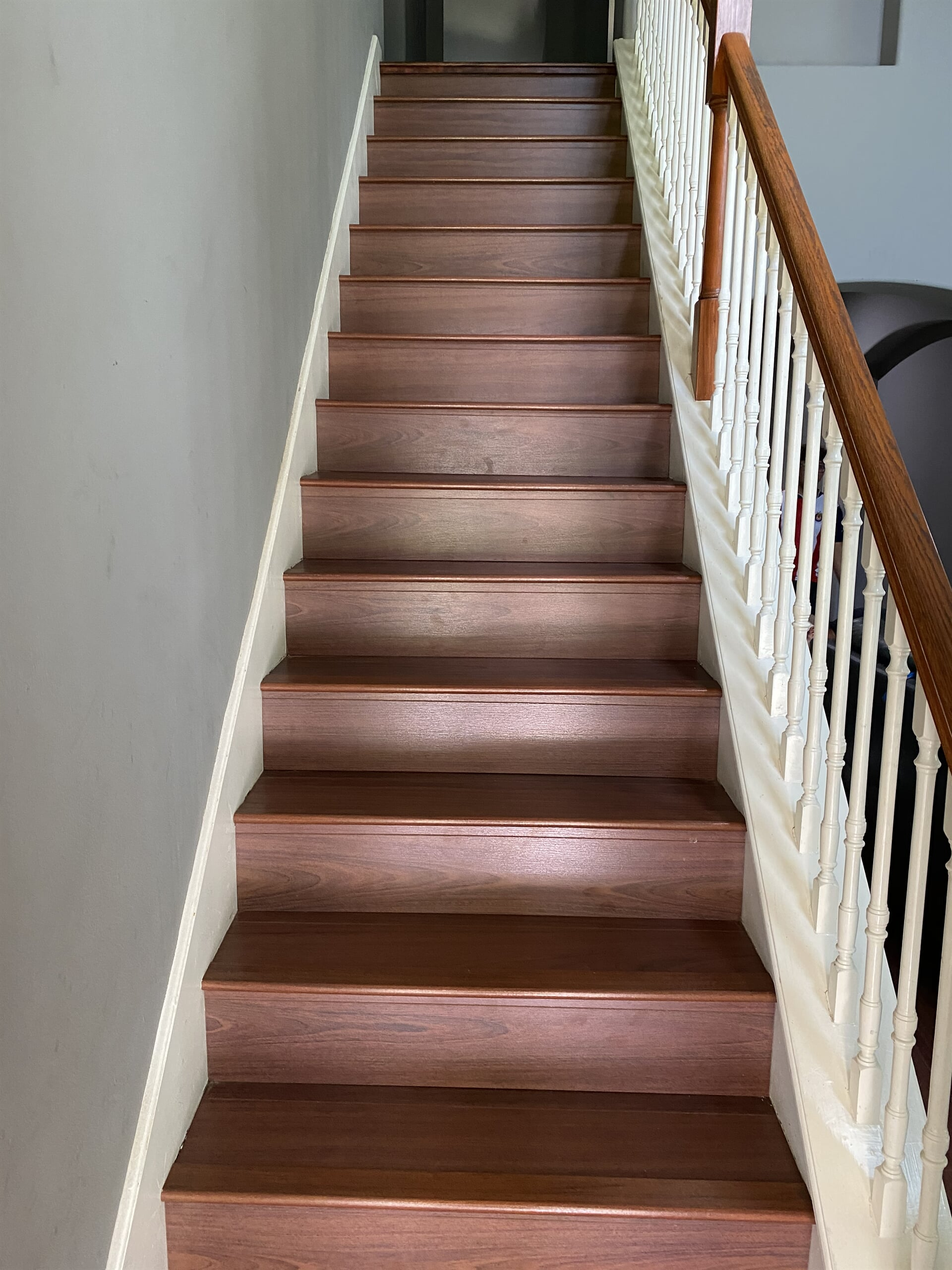 Hardwood stairs from Houston Floor Installation Services in Spring, TX