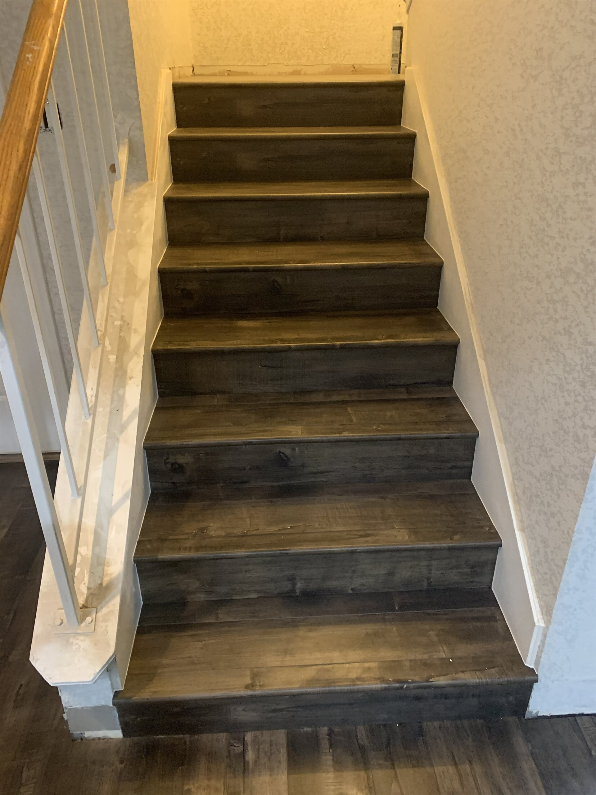 Hardwood stairs from Houston Floor Installation Services in Humble, TX