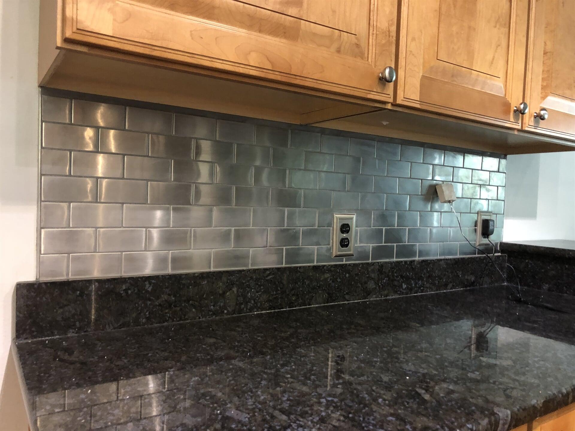 Tile backsplash from Emerald Installation in Poulsbo, WA