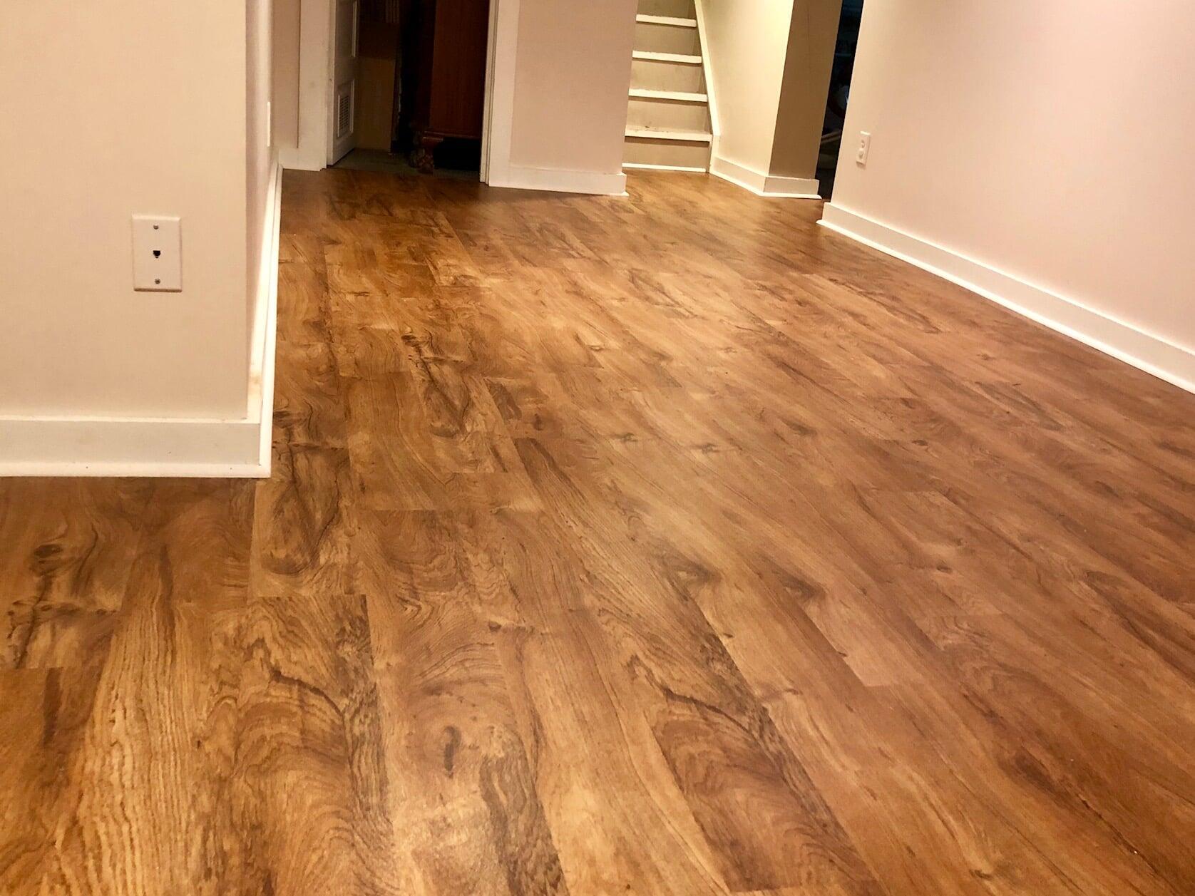 Luxury vinyl plank flooring from Emerald Installation in King County, WA