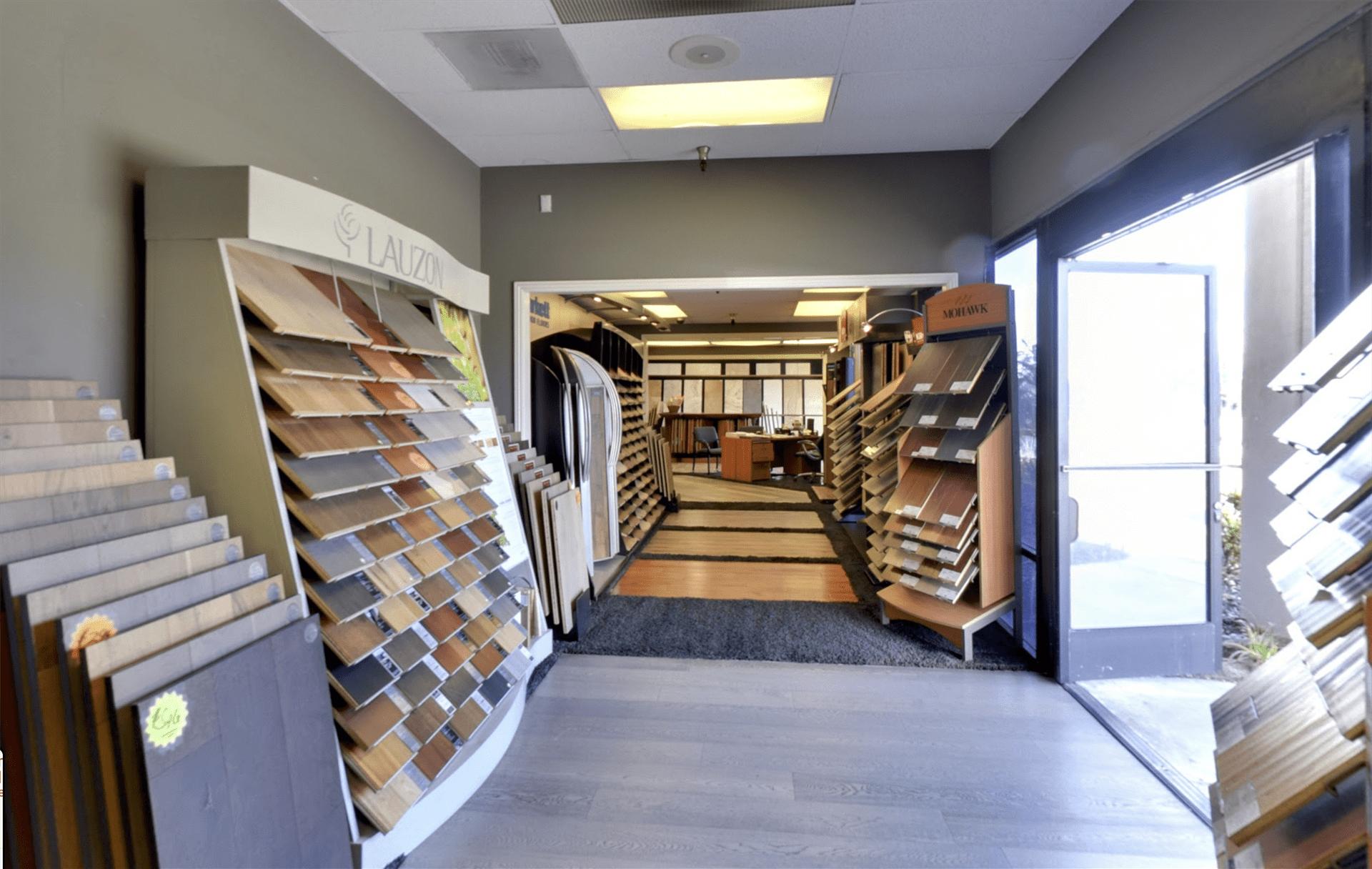Belmont Carpets showroom near Tustin, CA