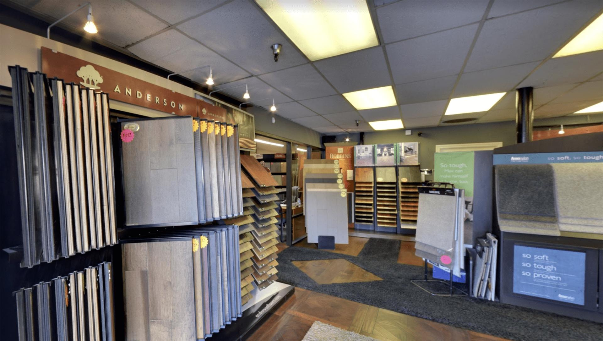 Belmont Carpets showroom near Newport Beach, CA