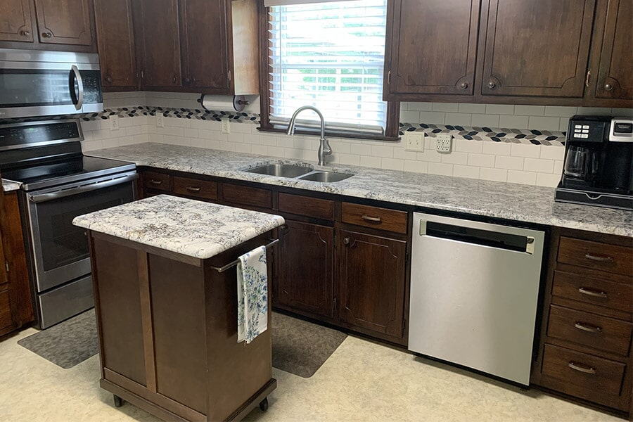 Classic kitchen with a modern touch in Wilson, NC from Richie Ballance Flooring & Tile