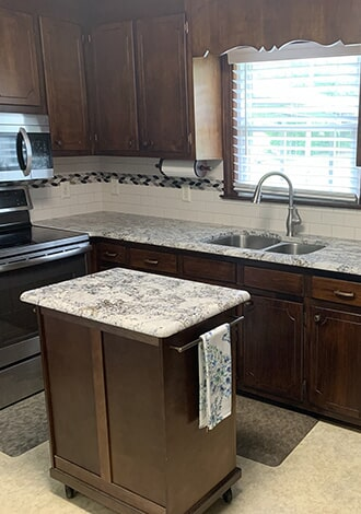 Beautiful custom countertops in Lucama, NC from Richie Ballance Flooring & Tile