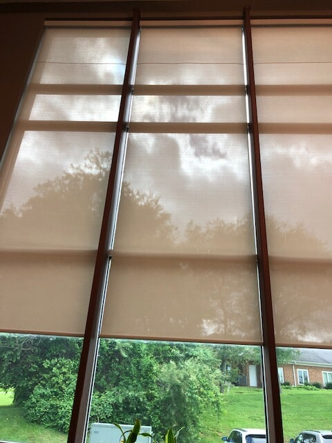 Natural tone window shades in Luray, VA from Early's Flooring Specialists & More